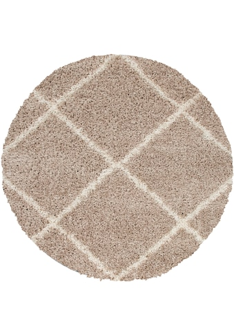 Home affaire Hochflor-Teppich »Kalmarova«, rund, 45 mm Höhe, Sehr weicher Flor, Wohnzimmer kaufen