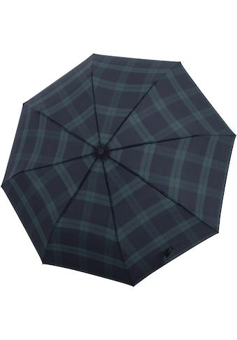 doppler® Taschenregenschirm »Carbonsteel Magic, Karo Schwarz« kaufen