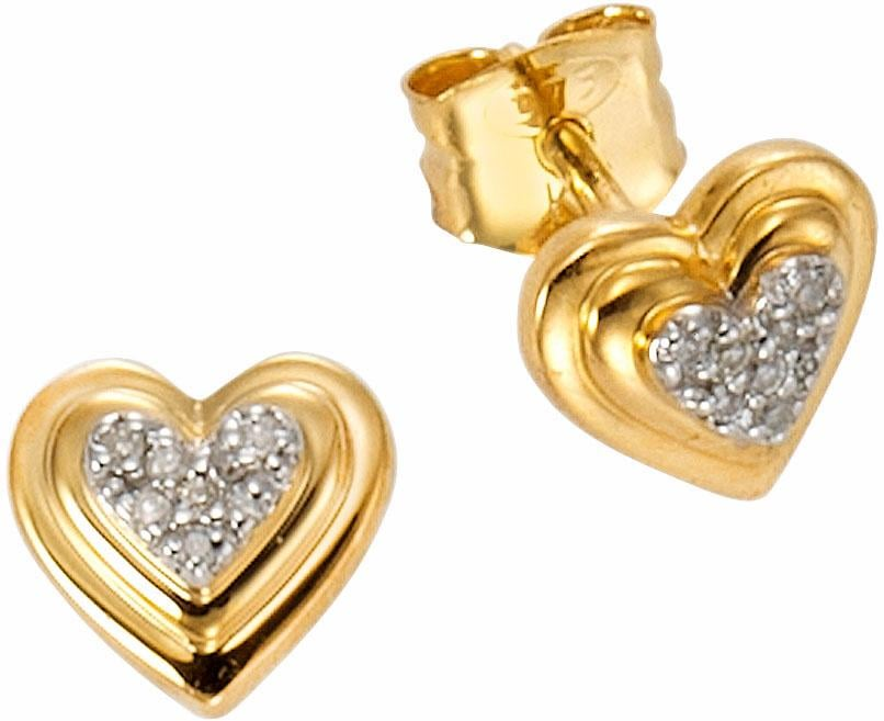 Vivance jewels Paar Ohrstecker | Schmuck > Ohrschmuck & Ohrringe > Ohrstecker | Goldfarben | Vivance Jewels