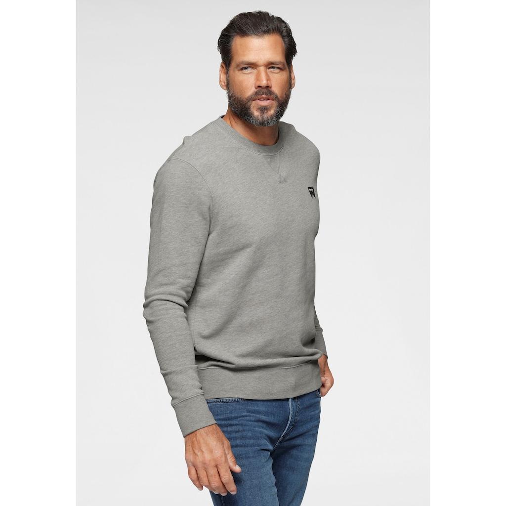 Wrangler Sweatshirt, Logodruck auf der Brust