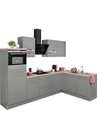 OPTIFIT Winkelküche »Bern«, mit Hanseatic E-Geräten, Stellbreite 285 x 175 cm, mit... kaufen