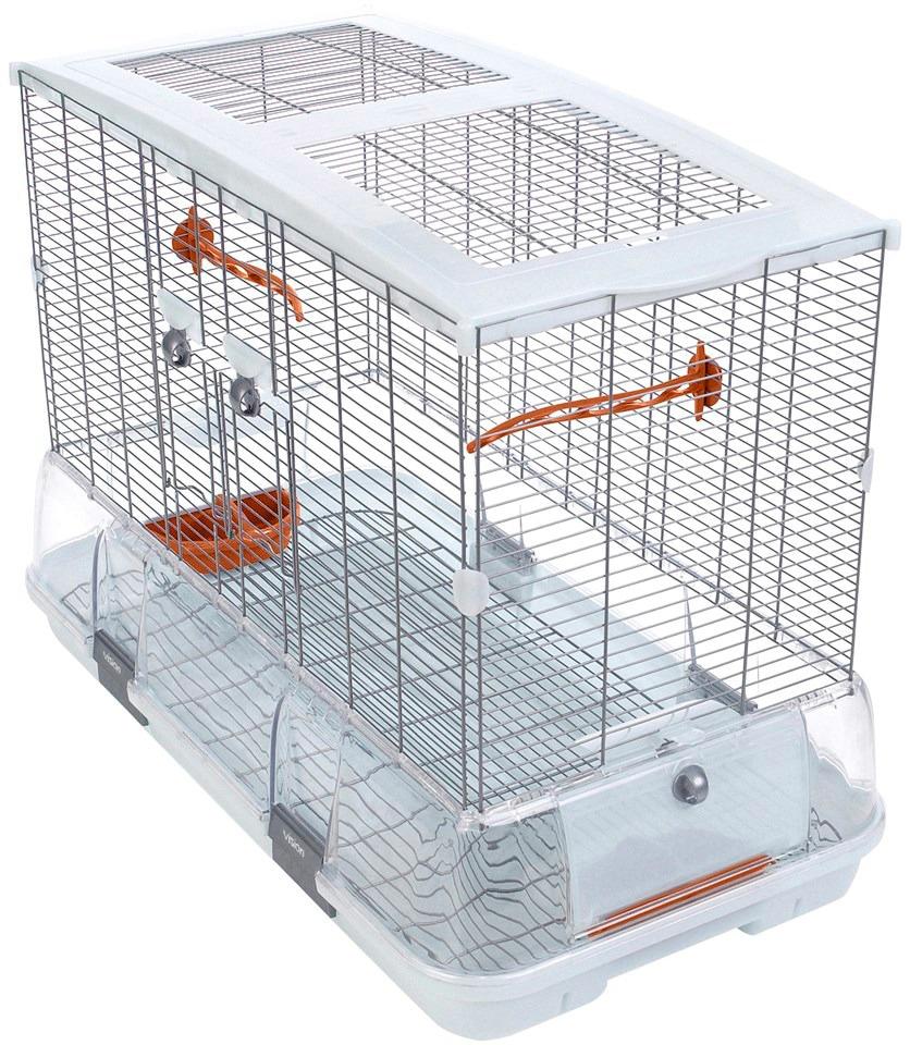VISION Vogelkäfig »Vision Model L01«, B/T/H: 74,9/38,1/54, 6 cm | Garten > Tiermöbel > Vogelkäfige-Volieren | Weiß | Metall | VISION