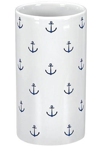 KLEINE WOLKE Zahnputzbecher »Anchor«, (BxH) 6,2 x 11,5 cm kaufen