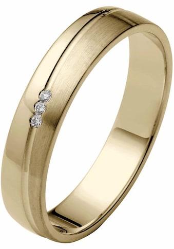 Firetti Trauring »glanz, matt, Diamantschnitt, 4,0 mm breit«, Made in Germany, wahlweise mit oder ohne Brillanten kaufen