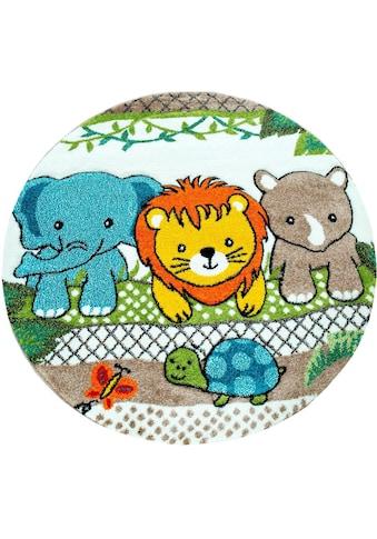 Paco Home Kinderteppich »Diamond 634«, rund, 18 mm Höhe, Kinder Design mit verspieltem... kaufen