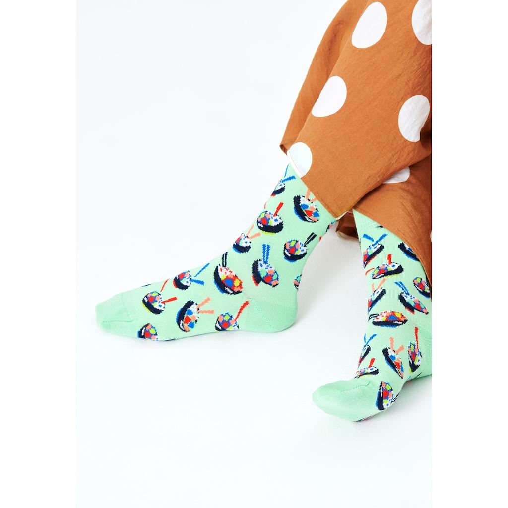Happy Socks Socken »Poke Bowl«, mit bunten Asia food Motiven