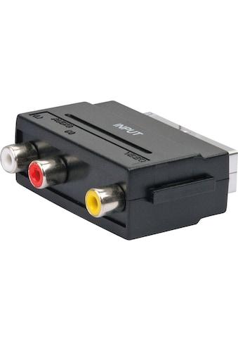 SCHWAIGER Scart Adapter, Audio Video Adapter, Cinch zu Scart »AV Konverter Wandler... kaufen