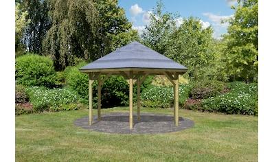 Karibu Pavillon »Oslo 2«, (Set), BxTxH: 392x451x315 cm, mit H-Pfostenanker kaufen