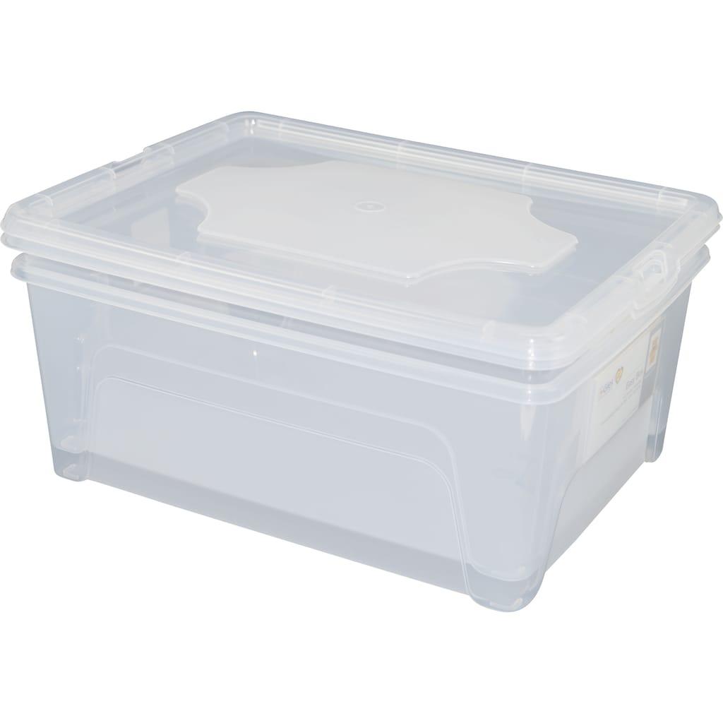 Gies Aufbewahrungsbox »Easy«, (Set, 5 St., 3 Easy Boxen ca. 5 l, 2 Easy Boxen ca. 10 l), mit Einsteckkarten