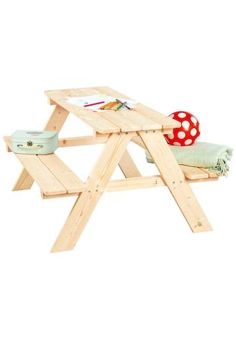 Pinolino® Kindersitzgruppe »Nicki«, Picknicktisch, BxHxT: 90x79x50 cm kaufen