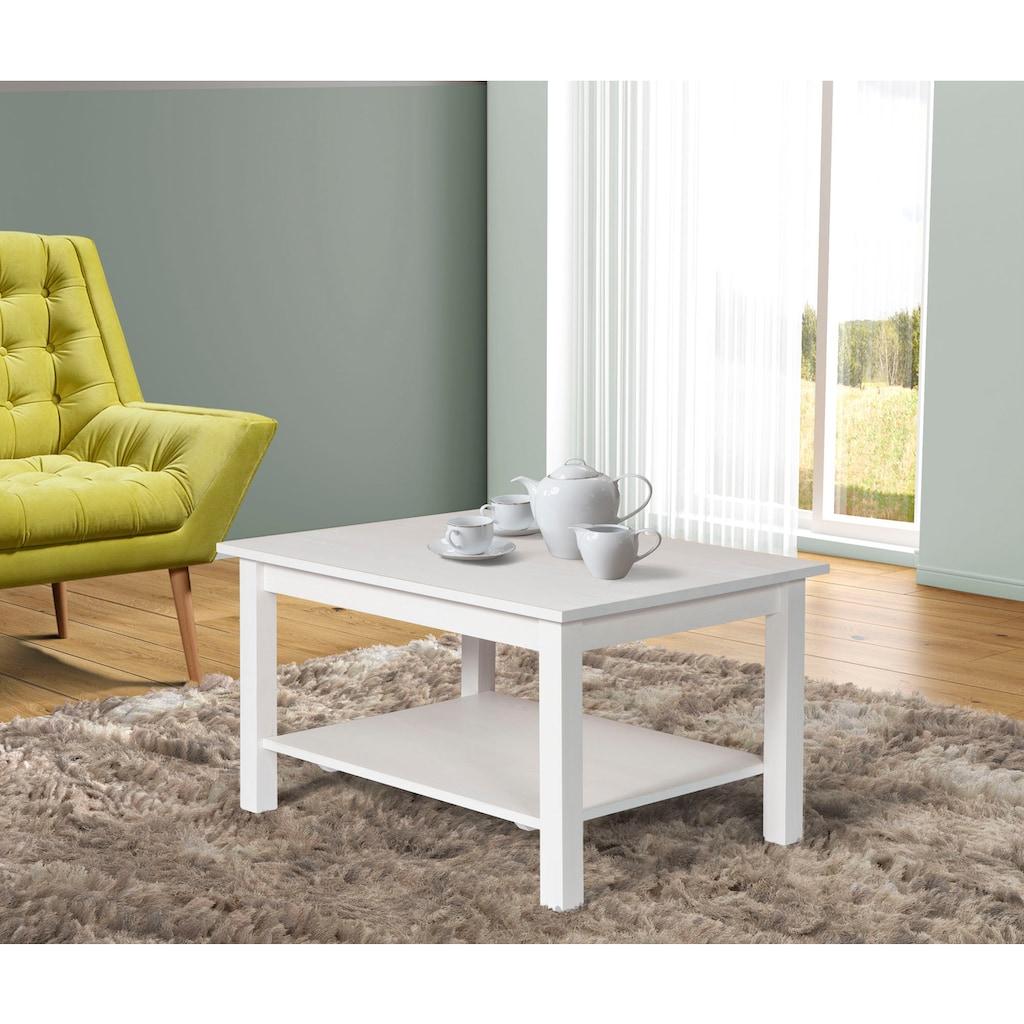 Home affaire Couchtisch »Tracy«, aus Kiefer massiv mit Ablagefläche, Breite 90 cm