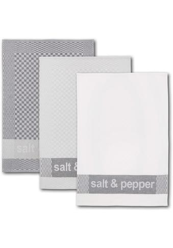 """Dyckhoff Geschirrtuch """"salt & pepper"""" (Set, 6 - tlg.) kaufen"""