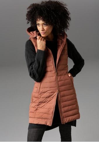 Aniston CASUAL Steppweste, mit verstellbarer Kapuze - NEUE KOLLEKTION kaufen