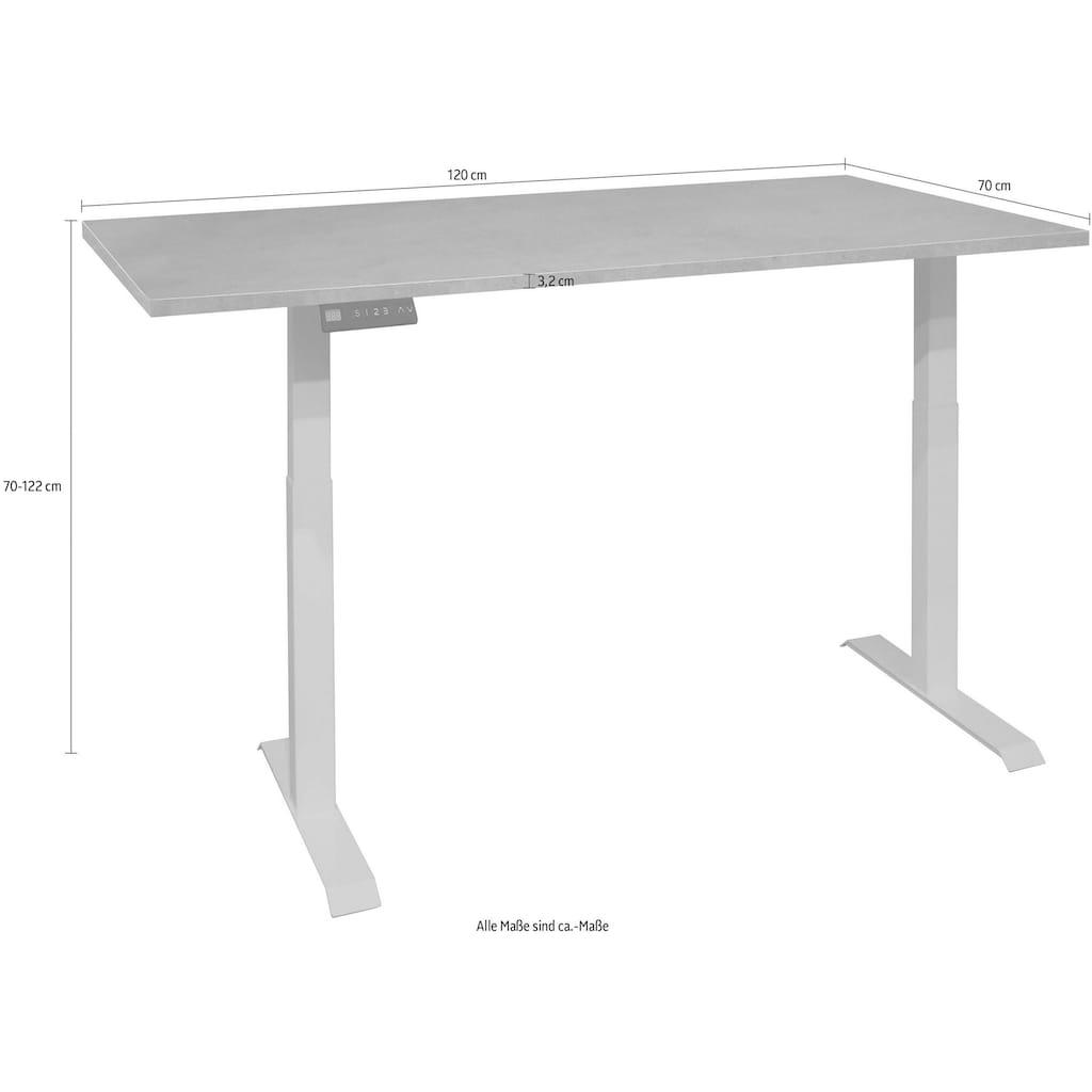 Schreibtisch »Big System Office«, Breite 120 cm, elektrisch höhenverstellbar