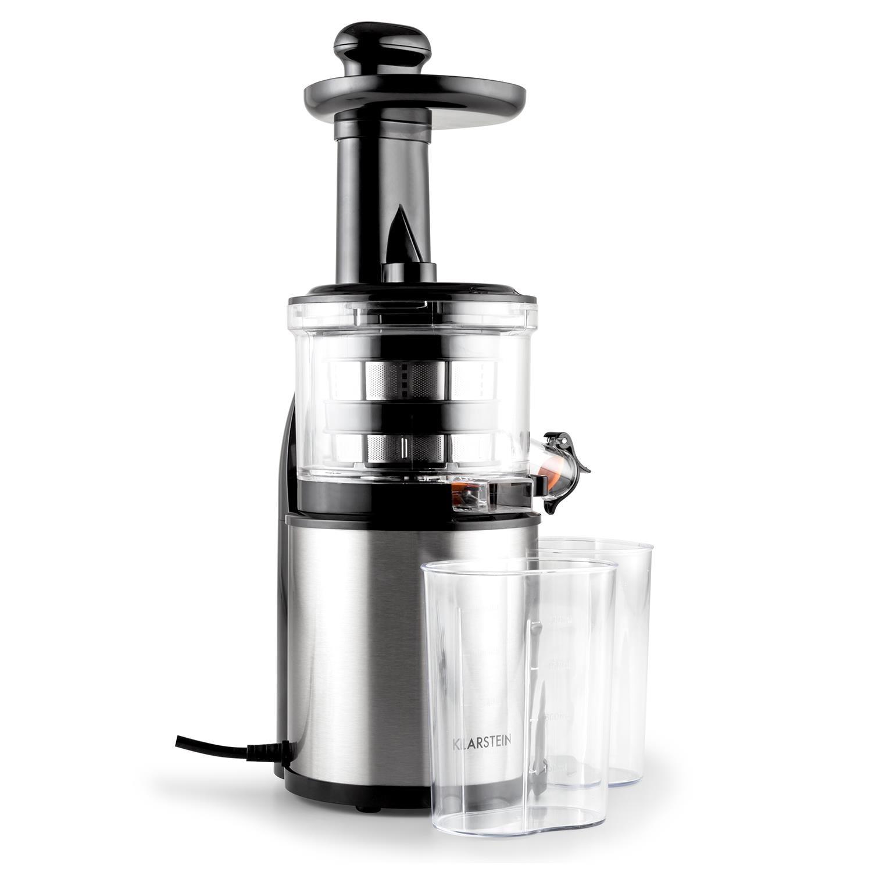 Klarstein Entsafter Slow Juicer 200W 80 U/min Edelstahl »Flowjuicer« | Küche und Esszimmer > Küchengeräte > Entsafter | KLARSTEIN