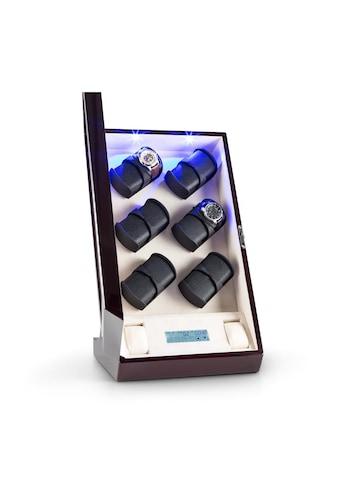 Klarstein Uhrenbeweger R/L-Lauf 12 Uhren LED Touch Mahagoni kaufen