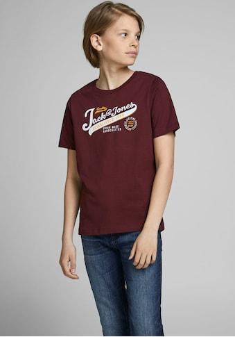 Jack & Jones Junior T - Shirt »JJELOGO TEE SS O - NECK« kaufen