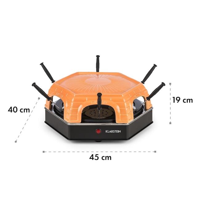 Klarstein Mini Pizzaofen Tischgrill Flammkuchen Elektrischer Ofen 1500W »Capricciosa«