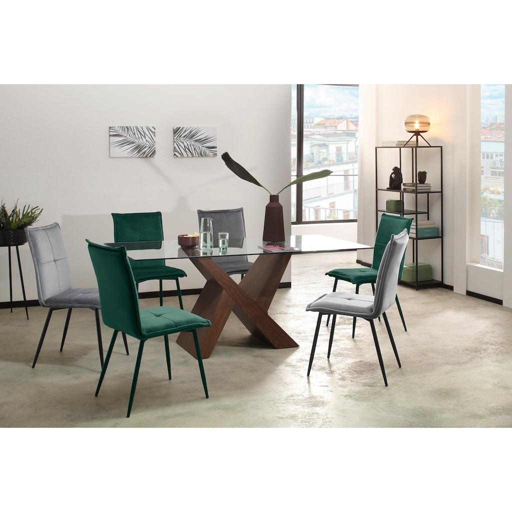 my home Esstisch »Melinda«, in zwei unterschiedlichen Farbvarianten auswählbar, in zwei verschiedenen Tischbreiten erhältlich