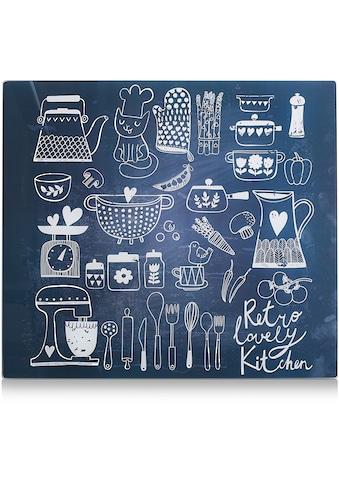 """Zeller Present Herdblende - /Abdeckplatte """"Lovely Kitchen"""", Glas, (1 - tlg.) kaufen"""