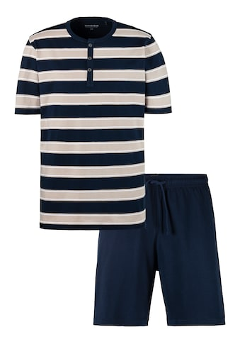 Schiesser Shorty, Blockstreifen Shirt mit Knopfleiste kaufen