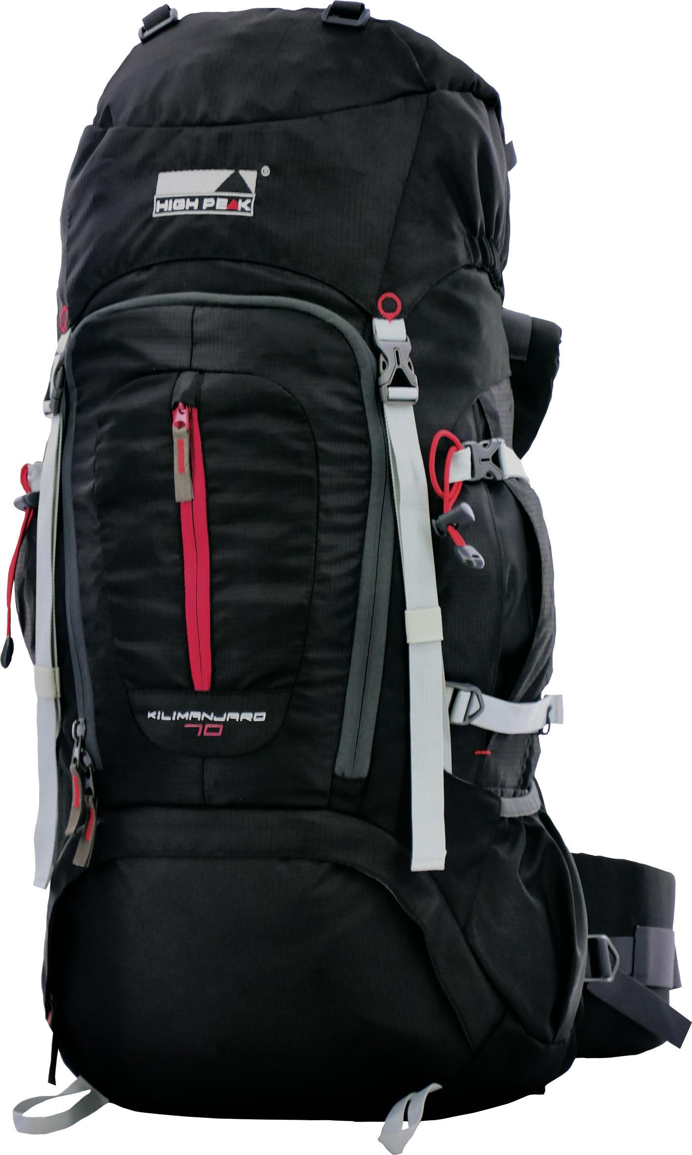 High Peak Trekkingrucksack, »Kilimanjaro 70« | Taschen > Rucksäcke > Sonstige Rucksäcke | Schwarz | Pu | HIGH PEAK