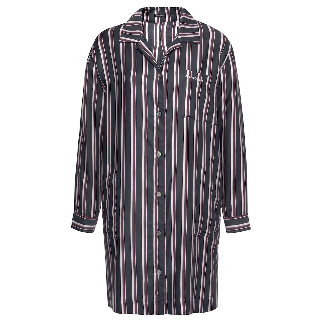 Marc O'Polo Nachthemd, in klassischer Form mit Längsstreifen