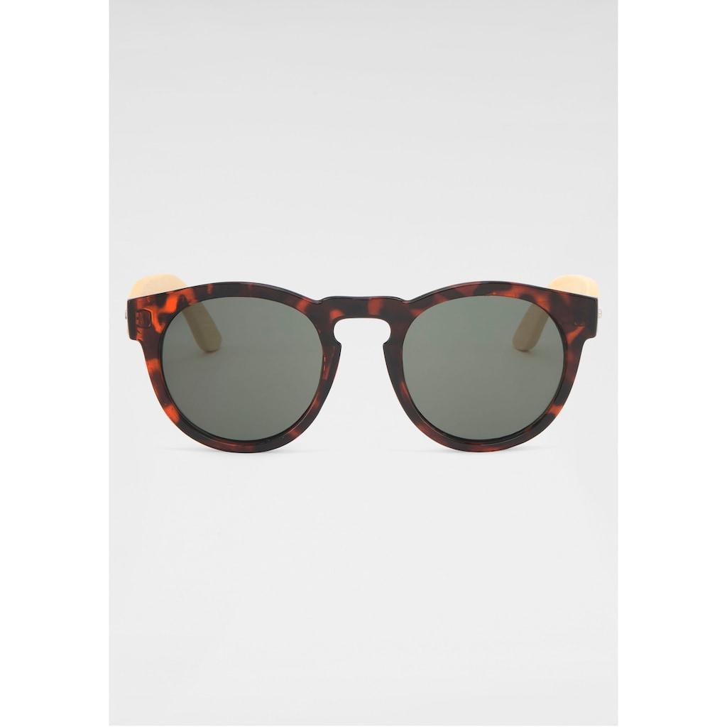 Retrosonnenbrille, Mit Holzbügeln