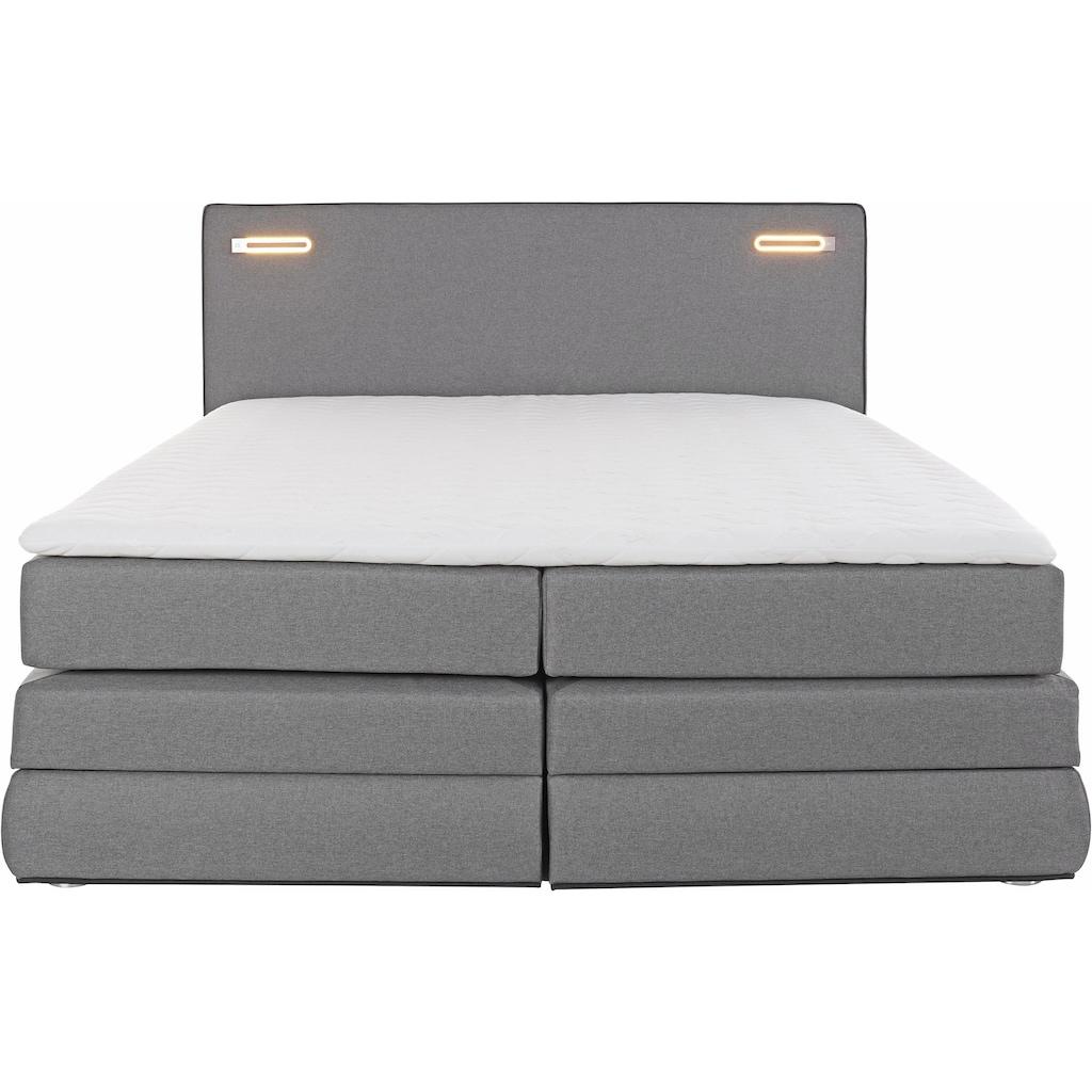 COLLECTION AB Boxspringbett »Rubona«, inkl. Bettkasten, LED-Beleuchtung und Topper