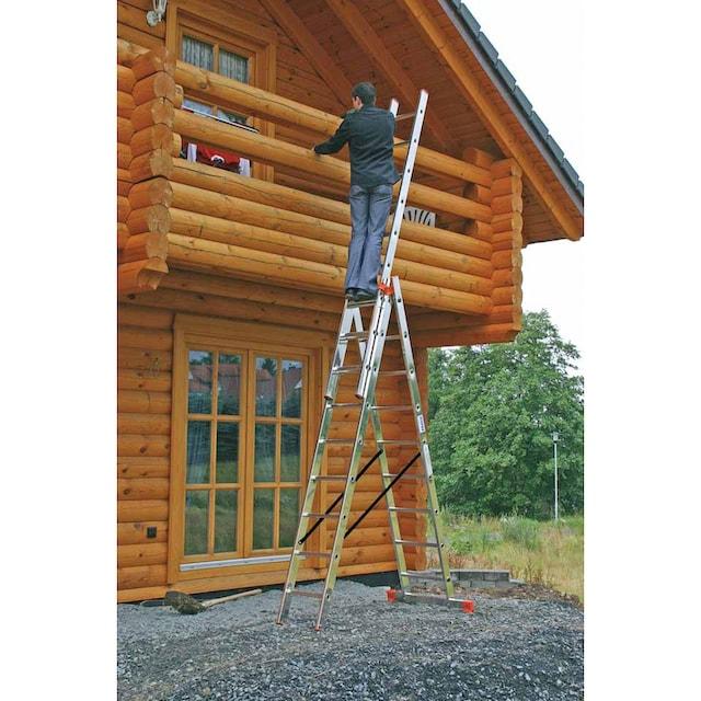 KRAUSE Vielzweckleiter »Tribilo«, mit Leiternspitzen, 3x9 Sprossen