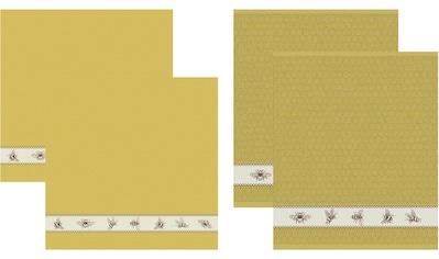 DDDDD Geschirrtuch »Bees«, (Set, 4 tlg., Combi-Set: bestehend aus 2x Küchentuch + 2x... kaufen
