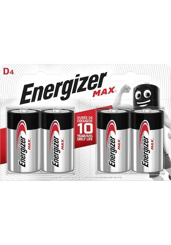 Energizer »MAX D4 Alkali 4er Pack« Batterie (4 Stück) kaufen