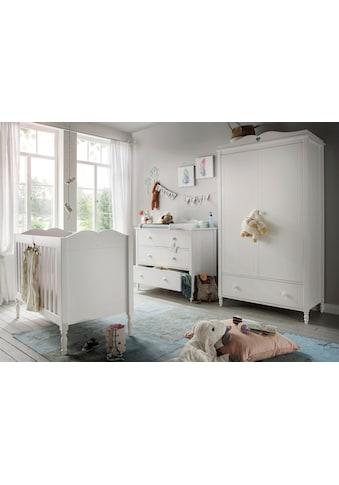 Fantasykids Babyzimmer - Komplettset (3 - tlg Bett + Wickelkommode + 2 - trg. Schrank) kaufen