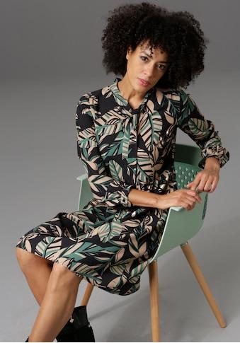 Aniston CASUAL Blusenkleid, in unterschiedlichen Blätterdrucken - NEUE KOLLEKTION kaufen