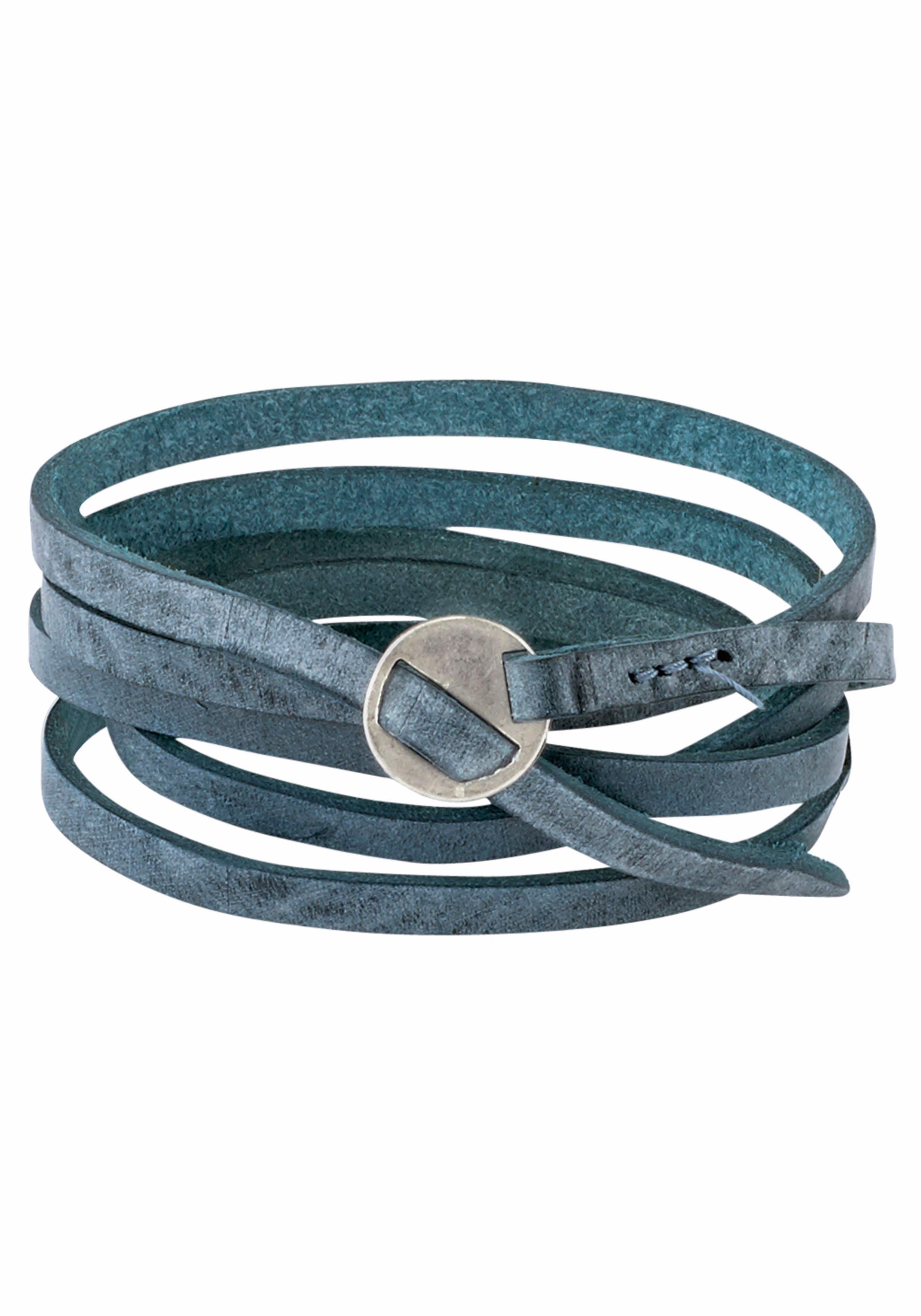 J.Jayz Lederarmband »zum Wickeln, mit trendiger Metallschließe« | Schmuck > Armbänder > Lederarmbänder | J.Jayz