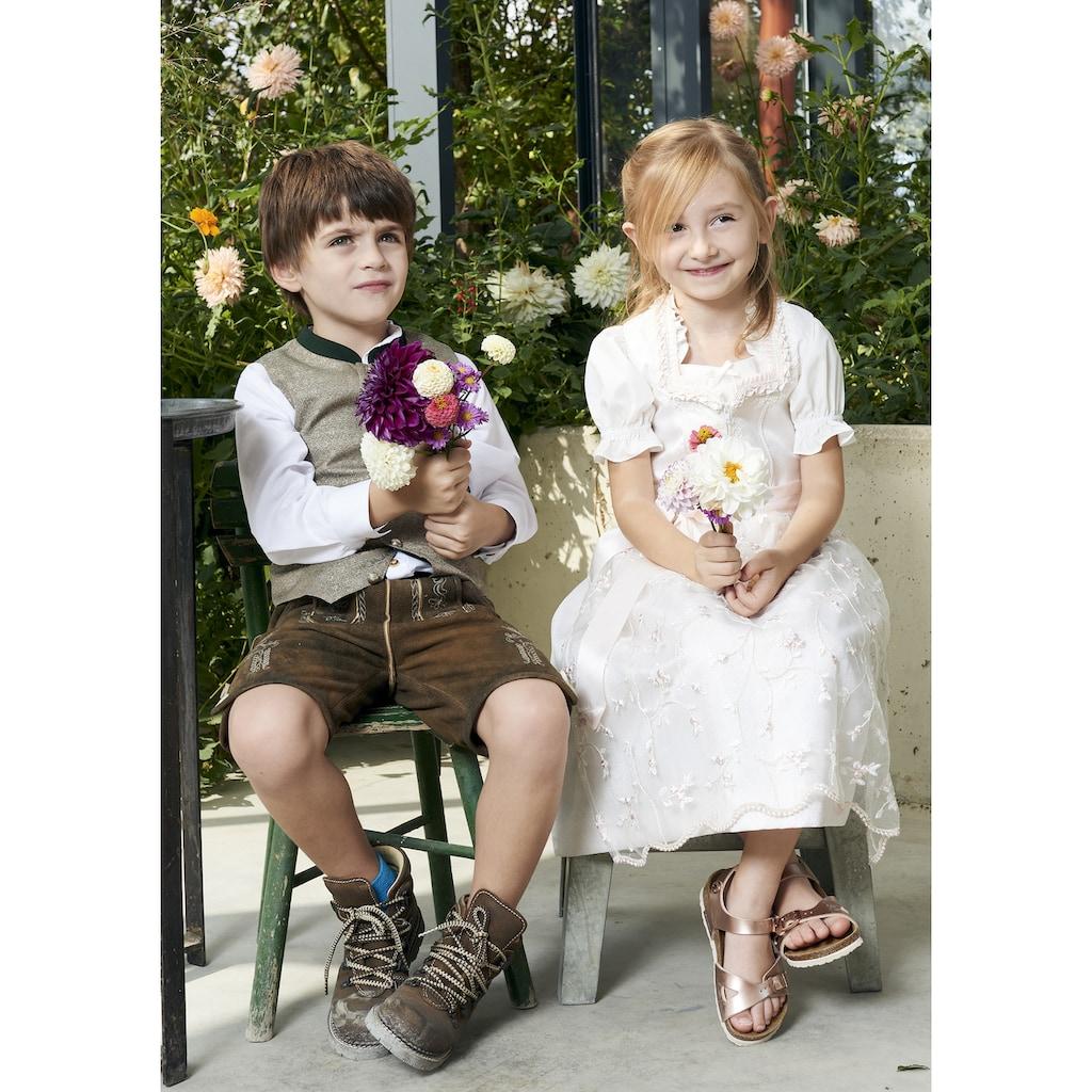 KRÜGER KIDS Dirndl »Francine Kids«, (3 tlg.), Kinder, mit Bluse und bestickter Tüllschürze
