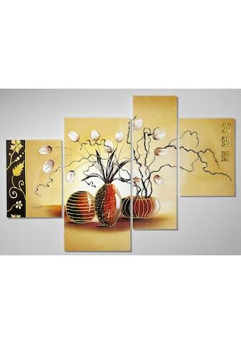 DELAVITA Kunstdruck »Zweige in bauchigen Vasen«, (Set, 4 St.) kaufen