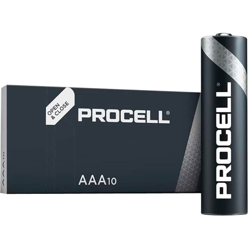 Duracell Batterie »Batterie Alkaline, Micro, AAA, LR03, 1.5V, Procell, Box (10-Pack)«, (Packung, 10 St.)
