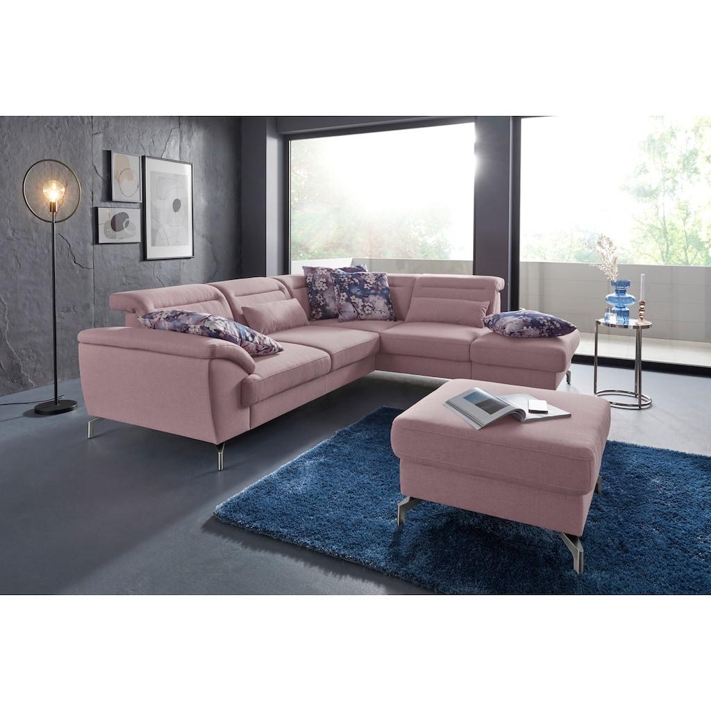 sit&more Hocker, Fußhöhe 12 cm, wahlweise mit unterschiedlichen Fußfarben