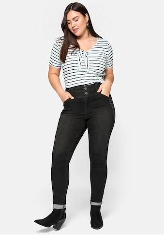 Sheego Stretch-Jeans, Skinny Jeans mit High Waist Bund in ultraflexibler Qualität kaufen