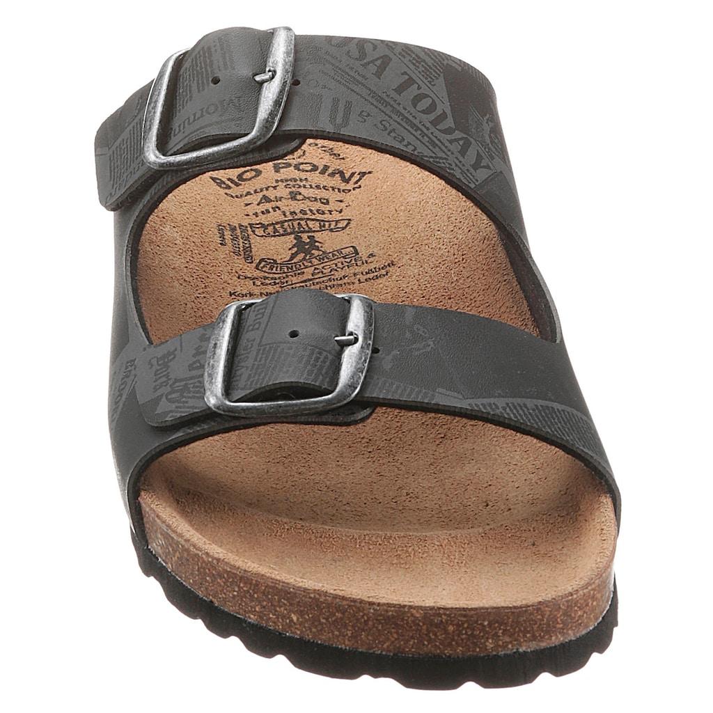 BIO POINT Pantolette, mit vorgefomtem Fußbett