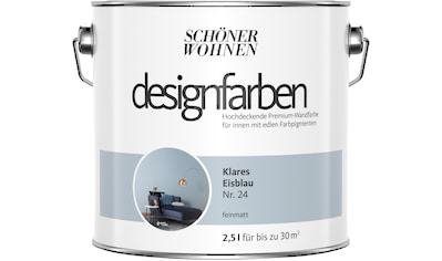 SCHÖNER WOHNEN-Kollektion Wandfarbe »Designfarben«, klares Eisblau Nr. 24, feinmatt 2,5 l kaufen