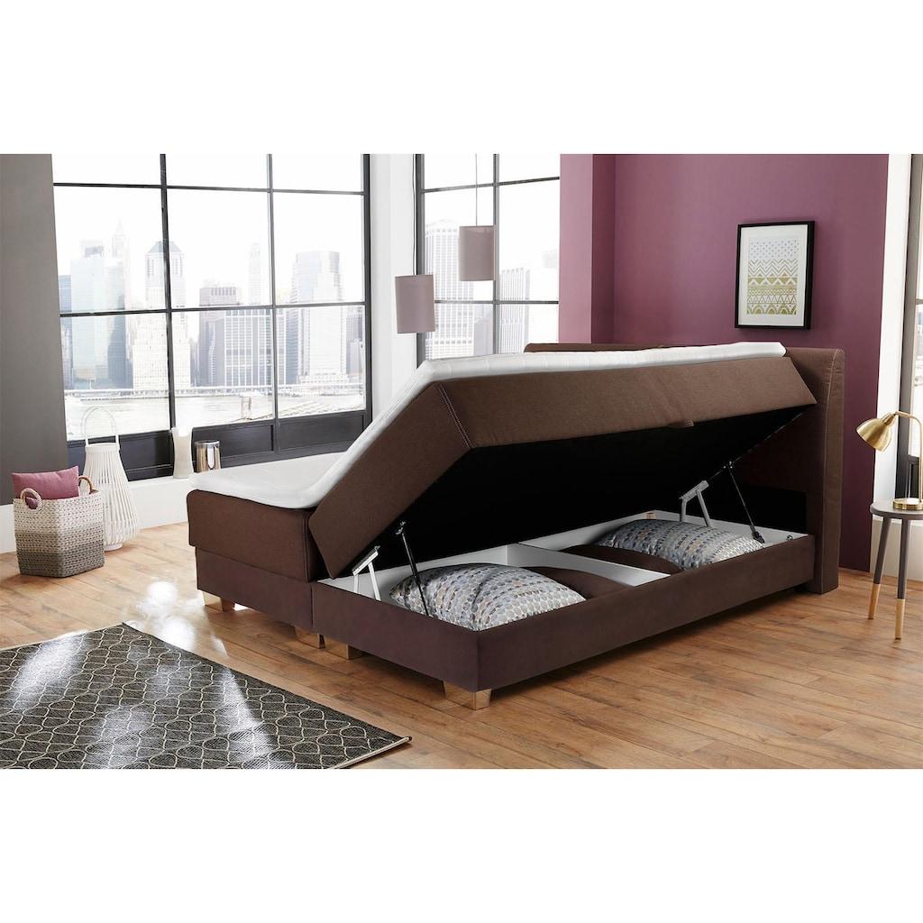 Jockenhöfer Gruppe Boxspringbett, mit Bettkasten, Kaltschaum-Topper und Zierkissen