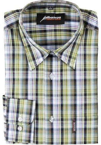 ALBATROS Hemd »Bronze 1/1«, Langarm, grün - kariert kaufen