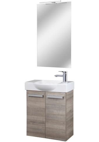FACKELMANN Badmöbel-Set »Double-Sided«, (4 St.), Gästebad, bestehend aus Waschbecken,... kaufen