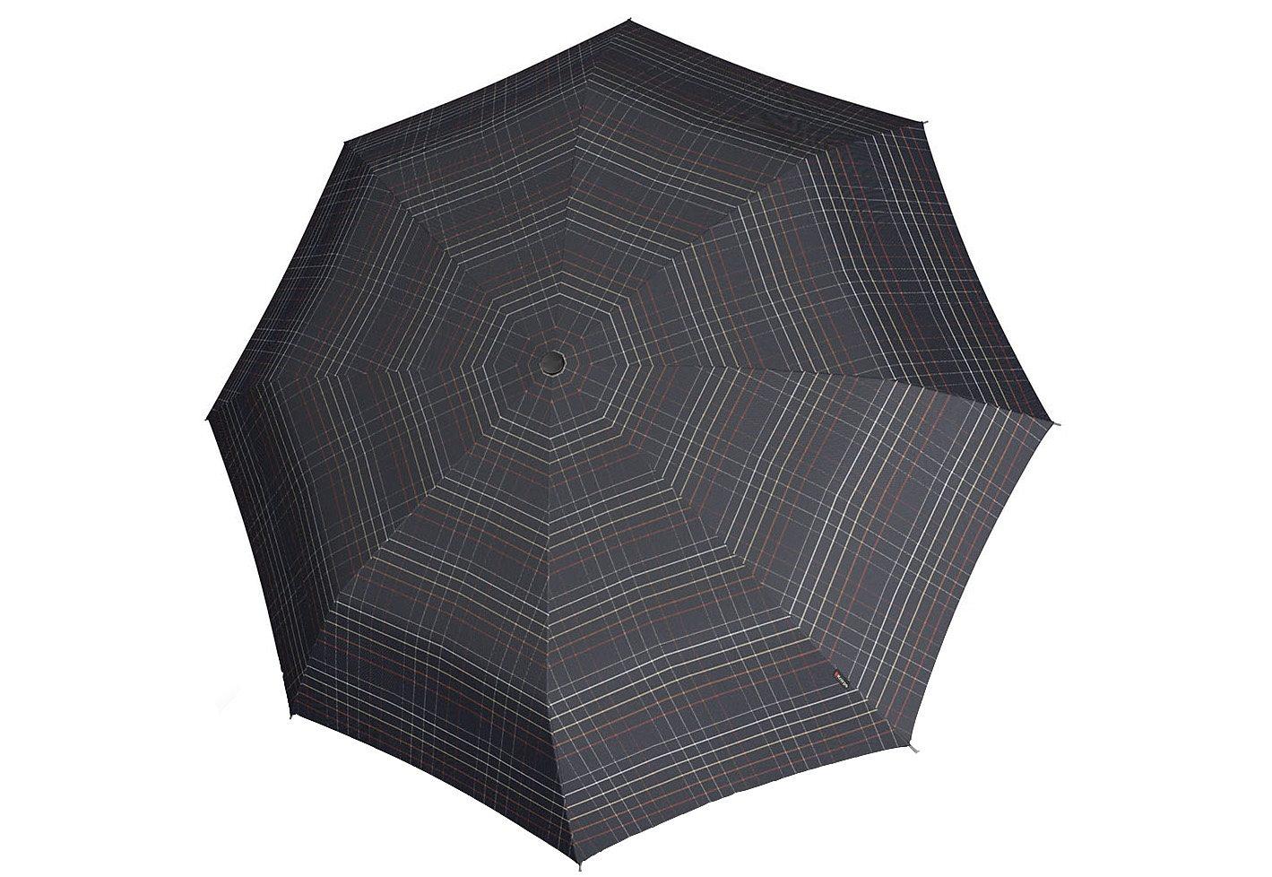 Knirps® Taschenschirm, »T2 Duomatic - Karo schwarz« | Accessoires > Regenschirme > Taschenschirme | Bunt | Polyester | KNIRPS