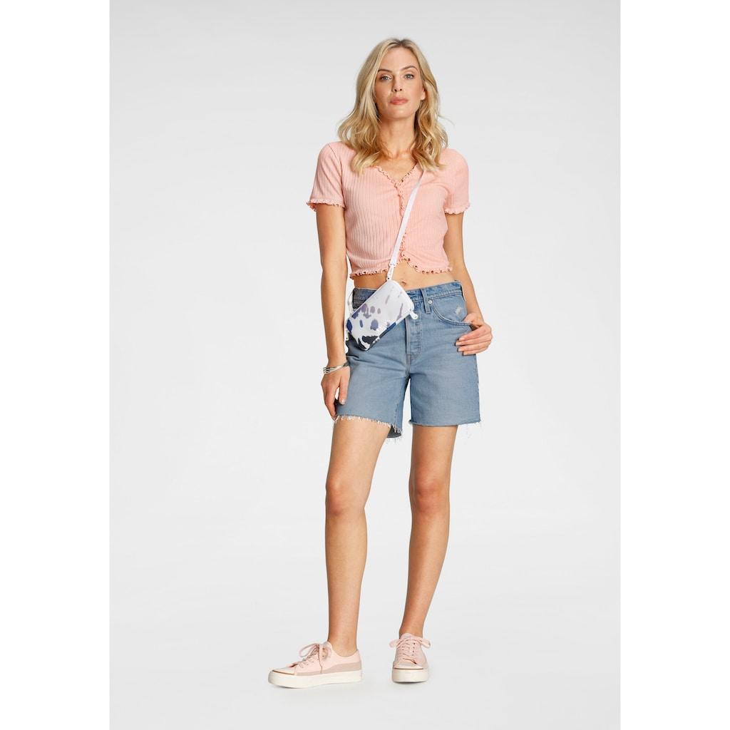 Levi's® Shorts »501 Mid Thigh«, mit Destroyed-Effekten und ausgefranstem Saum
