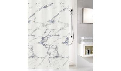 Kleine Wolke Duschvorhang »Marble«, Breite 120 cm, (1 tlg.), mit Beschwerungsband kaufen
