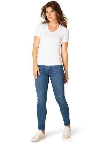BSIC by Yest T-Shirt »Yemi«, Figurbetontes T-Shirt mit V-Ausschnitt kaufen