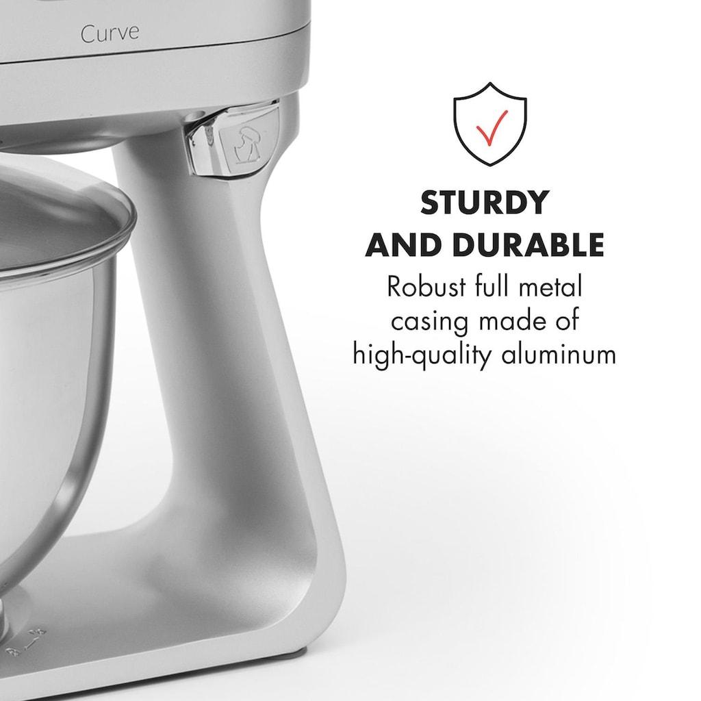 Klarstein Küchenmaschine LED-Display 5 Geschwindigkeitsstu »Curve«